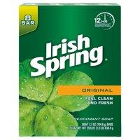 (2 pack) Irish Spring Original, Deodorant Bar Soap, 3.7 Ounce, 8 Bar Pack