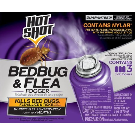 Hot Shot Bedbug & Flea Fogger, 3/2-oz
