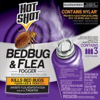 Hot Shot Bedbug and Flea Fogger Insecticide, 3-Count, 6-Ounce