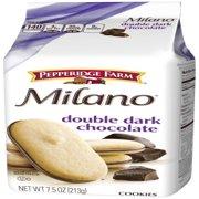 (2 Pack) Pepperidge Farm Milano Double Dark Chocolate Cookies, 7.5 oz. Bag