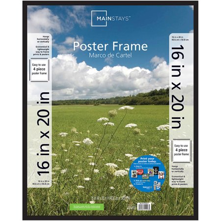 Mainstays 16x20 Basic Poster and Picture Frame, Black (Holiday Photo Frames)