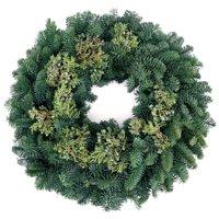 Deals on Van Zyverden Live Fresh Cut Pacific Northwest Juniper 20-in Wreath