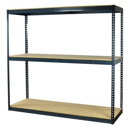 Heavy Duty Garage Shelving (Storage Max Garage Shelving Boltless, 60 x 30 x 72, Heavy Duty, Double Rivet Beams, 3 Shelves)