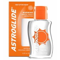 (2 pack) Astroglide Warming Personal Water Based Lubricant - 2.5 oz