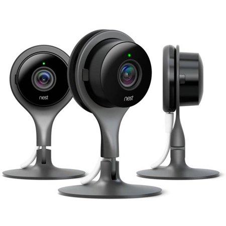 Nest Cam Indoor Security Cameras (3-Pack) - Black