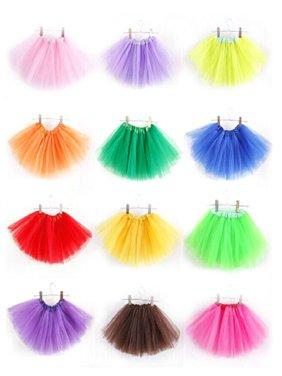 3 Layer Fashion Girls Kids Tutu Party Ballet Dance Wear Dress Skirt Costumes