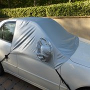 Formosa Covers Car snow cover and windshield sun shade half top cover fits full - large size car