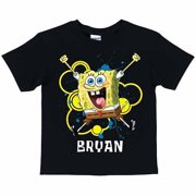 5af2e8525 Personalized SpongeBob SquarePants Excited Boys' Black T-Shirt