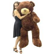 f4e6a4cffbe Big Plush 5 Foot Teddy Bear Soft Brown Premium Giant Stuffed Animal 60 Inch  Snuggle Buddy