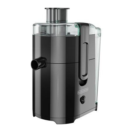 BLACK+DECKER Fruit and Vegetable Juice Extractor with Space Saving Design, Black,