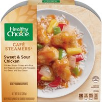 Healthy Choice Cafe Steamers Frozen Dinner, Sweet & Sour Chicken, 10 Ounce
