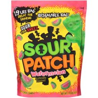 (2 Pack) Sour Patch Kids, Watermelon Soft and Chewy Candy, 1.9 Lb