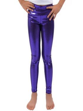 530fd87f1b5d5 Product Image Girl's Metallic Mystique Leggings - Small (6) / Mystique  Purple. Stretch Is Comfort