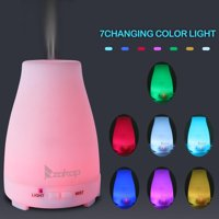 Ktaxon 7 Color LED Cool Mist Ultrasonic Humidifier Essential Oil Diffuser w/Remote Control Timer,200ML