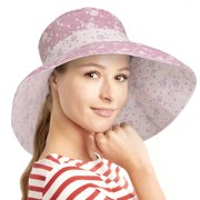 db587f890cd Womens Sun Hats Terra Summer Reversible UPF 50+ Beach Hat Foldable Floppy  Wide Brim Cap