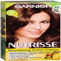 Garnier Nutrisse Nourishing Hair Color Creme, 43 Dark Golden Brown 1 ea