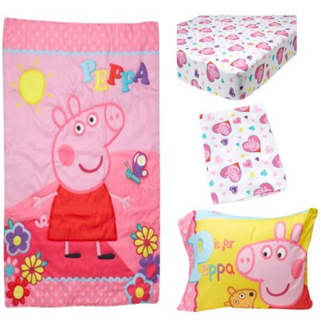 new product 8357b 101a7 Peppa Pig 4-Piece Toddler Bedding Set