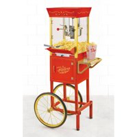 Nostalgia 53-In. Vintage Collection 6-Oz. Kettle Commercial Electric Popcorn Cart, CCP510