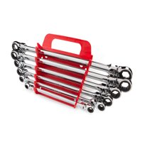 TEKTON Long Flex Ratcheting Box End Wrench Set, 6-Piece (8-19 mm) - Keeper | WRN77164