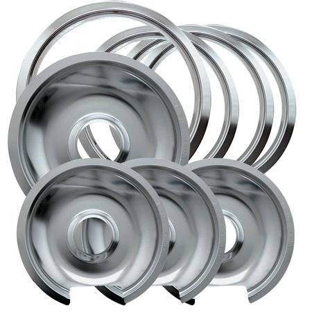 Range Kleen Chrome Ge And Hotpoint Drip Pans 8 Pack