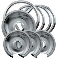 Range Kleen Chrome GE and Hotpoint Drip Pans, 8 Pack
