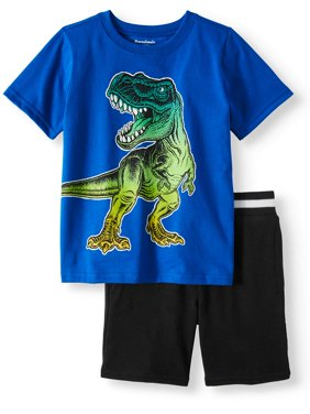 Toddler Boys' Graphic T-Shirt and French Terry Shorts, 2-Piece Outfit Set