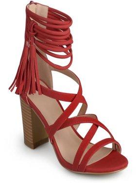 Womens Tassel Strappy High Heels