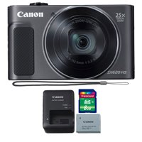 Canon PowerShot SX620 HS 20.2MP 25X Zoom Wifi / NFC  Full HD 1080p Digital Camera  (Black) with 8GB Memory Card