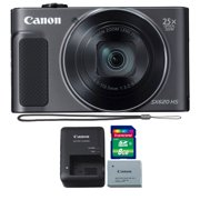 Canon PowerShot SX620 HS 20.2MP 25X Zoom Wifi / NFC  Full HD 1080p Digital Camera  (Black) with 8GB Memory Card