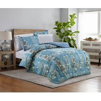 Mainstays Blue Patch Bed-in-a-Bag Complete Bedding Set