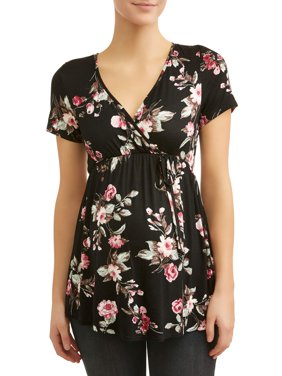 Maternity Nursing Friendly Baby Doll Floral Top
