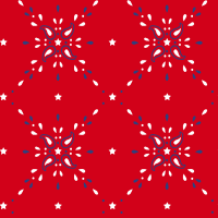 """RTC Patriotic Fabrics 100% Cotton, Star Bandana Red, 44"""" Wide, 140 Gsm, Quilt, Crafts By The Yard"""