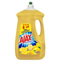 Ajax Ultra Triple Action Liquid Dish Soap, Lemon - 90 fl oz