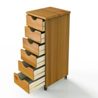 Wood Rolling Drawers-6 Drawer
