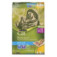 Cat Chow Naturals Indoor Plus Vitamins & Minerals Adult Dry Cat Food, 13 lb