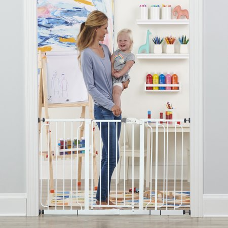 Regalo Extra WideSpan 56-Inch Walk Through Baby Safety Gate, Includes 4 Pack of Wall