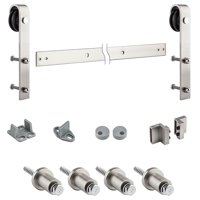 "National Hardware N186-966 72"" Satin Nickel Decorative Interior Sliding Door Hardware"