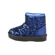 DZT1968 Infant Toddler Baby Girls Sequins Boots Boys Kids Winter Thick Snow Boots Shoes