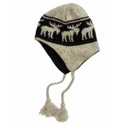 4e68b5696fd Free Authority Mens Tan Moose Print Wool Peruvian Style Trapper Hat Fleece  Lined