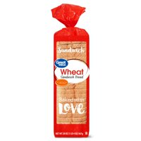 Great Value Wheat Sandwich Bread, 20 oz
