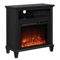 "Lytton Electric Fireplace Accent Table TV Stand for TVs up to 32"", Black"