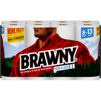 Brawny Paper Towels, Pick-A-Size, 8 Large Plus Rolls