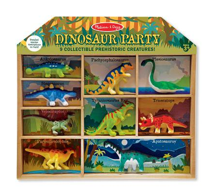 Melissa & Doug Dinosaur Party Play Set, 9 Collectible Miniature Dinosaurs in a Case](Dinosaur In A Suit)