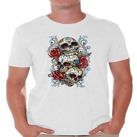 Awkward Styles skull shirts mens womens day of the dead costume t shirt dia de Los Muertos costume t shirt candy skull sugar skull costume t shirt skull for men for women Mexico Mexican