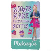 Personalized Kids Fuzzy Fleece Blanket - JoJo Siwa Bows Make Everything Better