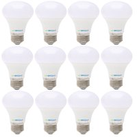 Viribright 60 Watt Equivalent LED Light Bulb, E26 Edison Base, Warm White (Soft White) 2700K, Pack of 12
