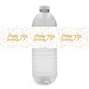 75th Birthday Water Bottle Labels 24 Ct