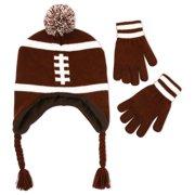 f3c65f25f49a9 Big Boys Football Laplander Hat and Gloves Set