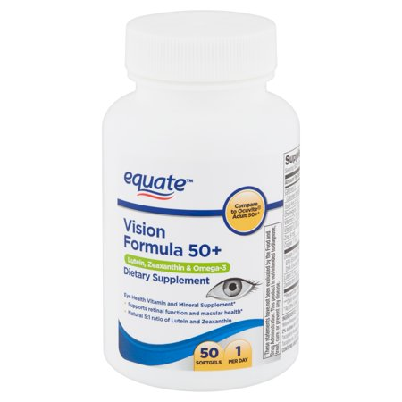 Equate Vision Formula 50+ Softgels, 50 Count - Joint Care Womens Formula