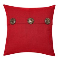 """Better Homes & Gardens Feather Filled Three Button Decorative Throw Pillow, 20"""" x 20"""", Ivory"""